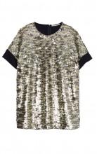 bluza argintie